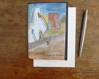 Gypsy Hill Post Route: A6 greeting card.