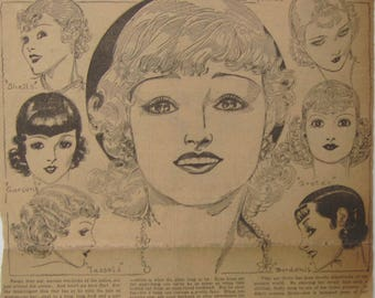 Original 1930's Newspaper Clipping - With A Bang By Nell Brinkley