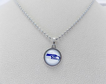 Seattle Seahawks Jewelry, Seahawks Necklace, Football Jewelry, Football Mom, Seahawks Accessory, Seahawks Jewelry, 12th Man, Seahawks Fan