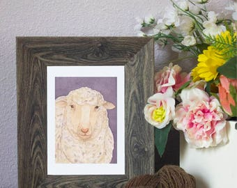 "Watercolor Art Print ""Targhee"" - Sheep"