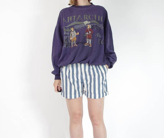 SALE! 80s Antarctic old school embroidered sweatshirt / size S-L