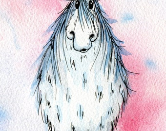 Limited edition print - Blue unicorn, unicorn print