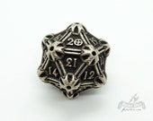 Stainless Steel Spindown D20 Life Counter Metal by Butler Dice 20 Sided