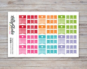 Page Flag Decorative Stickers with Star | Planner Stickers  | The Nifty Studio [126]