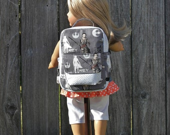 18 inch Doll Clothes 15 inch Doll Clothes Dresses American Made Girl Boys Doll Rey Star Wars Doll Backpack Doll Accessories Gift Under 30