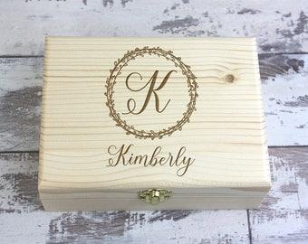 Personalized Gift Box, Bridesmaid Gift Box, Proposal Gift Box, Custom Engraved Wood Box, Custom Wooden Jewelry Box, Maid of Honor