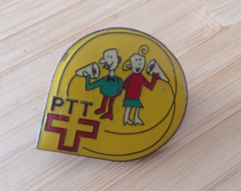 Rare Pin Vintage Pin Vintage enamel Pin Collection Pin Vintage Patches Rare Pinback Button Vintage Swiss Post Telecom Pin
