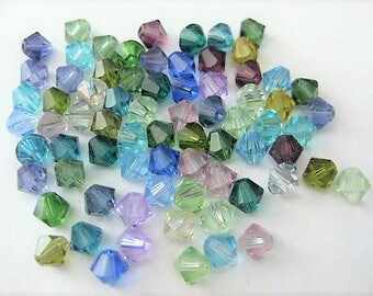 Jewelry Supplies ~ Swarovski Crystals  6mm  Mixed colors pastel  70+