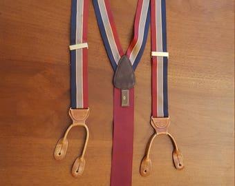 TRAFALGAR Striped Twill BRACES Suspenders