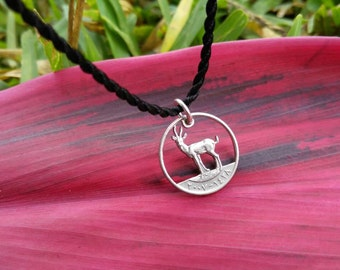 """Gazelle UAE Cut Coin Necklace by """"The Coins Shop"""""""