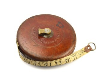 Constantia J Chesterman 100ft Tape Measure Vintage Surveyors Measure Vintage Rule Vintage Engineers Tape Measure Links Inches