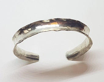 Hammered Sterling Cuff