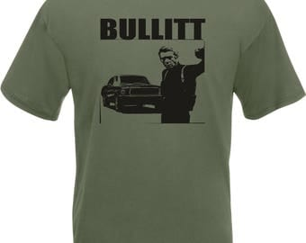 Steve McQueen Bullitt T-Shirt - Classic Film, Various Colours & Sizes