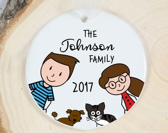Personalized Family Ornament - Custom Christmas Ornament - Family Gift - New Family - Growing Family - Family Keepsake - Holiday Gift