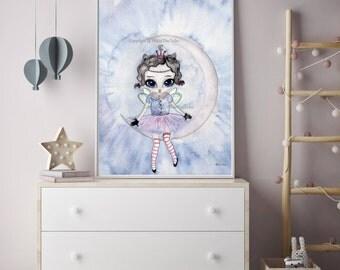 Nursery Decor, Nursery Wall Art, Moon Nursery Art,Decor, Nursery, Nursery Art, Kids Room Decor, Nursery Prints, Childrens Decor, Art
