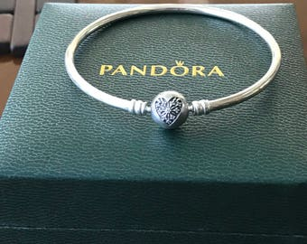 "Pandora Heart Of Winter Limited Edition Bangle Bracelet, 19cm-7.5"" B800646"