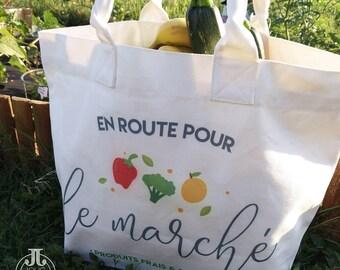 Tote bag XL tote bag - shopping bag - market Tote