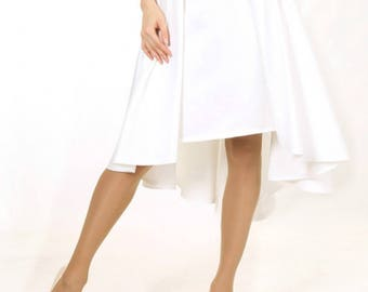Satin Wedding Skirt, White Bridal Skirt, Ivory Maxi Skirt, MIDI Skirt, Wedding Separates
