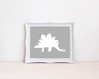 "Mix + Match Dinosaur 8""x10"" Printable Wall Art || Dinosaur Birthday Party Decorations || Dinosaur Nursery Print, Kids Room (DIGITAL PRODUCT)"