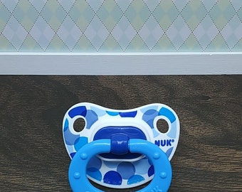 Reborn NUK Baby Doll Magnetic Pacifier or Reborn Putty Pacifier, Reborn Accessories for a Baby Boy, Reborn Dummy, Realborn Baby Boy Pacifier