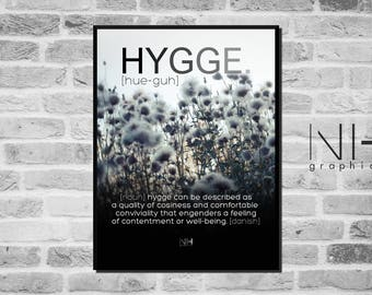 hygge poster etsy. Black Bedroom Furniture Sets. Home Design Ideas