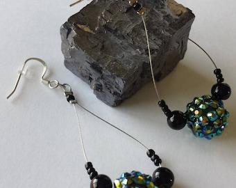 Disco Bead Wire Earrings