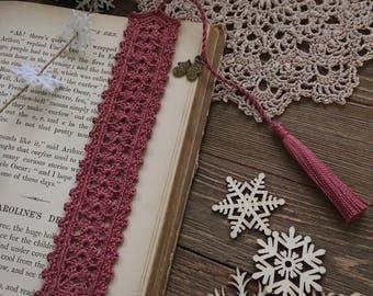 crochet bookmark, unique book lover gift