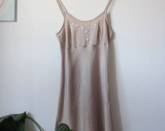 1990s Satin Slip Dress St. Michael Marks & Spencer  - Size S-M/ uk 8-12/ eu 36-40/ us 4-8