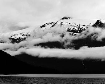 Black and White Alaskan Landscape