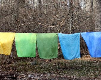 "Hand-Dyed Play Silks - Large Waldorf Play Silks - 35"" x 35"""