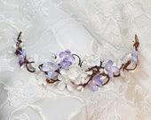 lavender hair piece, lilac hair piece, lavender hair flower, bridal hair vine, purple hair flower, prom hair piece, floral hair accessories