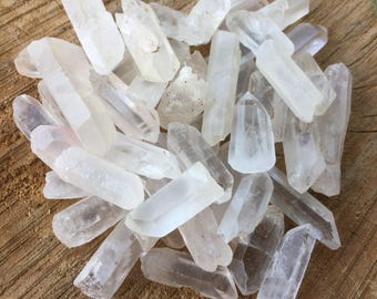 10 Small Crystal Points - Quartz Crystal - Crystal Point - Crystal Points - Clear Quartz - Jewelry Making