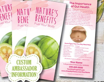 PERSONALIZED Nature's Benefit Brochure, plexus swag