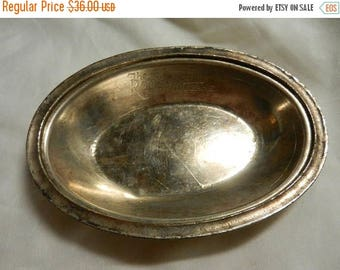 Summer Sale Vintage The Roosevelt New Orleans Silver Plated Hotel Tray Dish