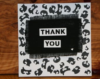 Hand made Thank you card.