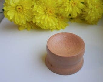 Spinning Bowl for Supported Spindle from Beechwood