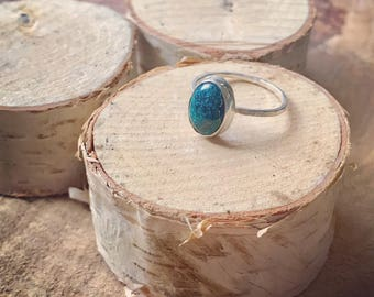 Turquoise ring // Turquoise stacking ring