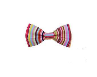 Candy Stripe Dog Bow Tie