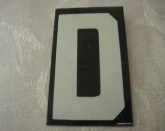 Vintage Sign Board Letter D 2 1/2 Inches By 1 1/2 Inches