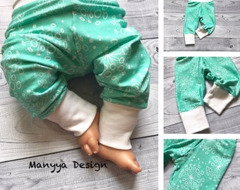 MADE TO ORDER - Mint Baby Pants - Baby Girl Clothes - Mint Baby Clothes - Dandelion Baby Clothes - Baby Shower Gift - Baby Boy Clothes