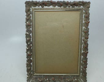 Vintage Picture Frame - Stamped Frame  - Embossed Frame 8 x 6 inches