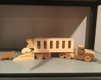 Wooden Livestock truck