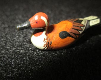 1/12th scale wooden duck decoy.