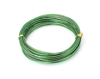 10 m Green 2mm aluminum wire