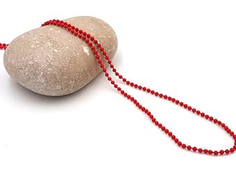 5 m balls 1.5 mm red ball chain