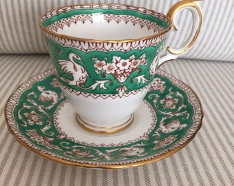 Staffordshire demitasse cup and saucer