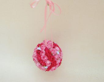 Floral Baby mobile - Pink baby mobile - Nursery decor - Photography prop - Baby shower decor