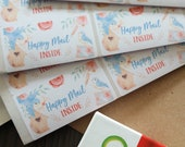 "Birds ""Happy Mail Inside"" - mailing labels"