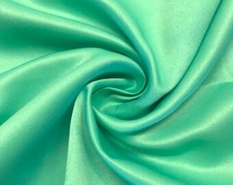 "Seafoam Matte Satin (Peau de Soie) Duchess Fabric Bridesmaid Dress 60"" Wide Sold BTY"