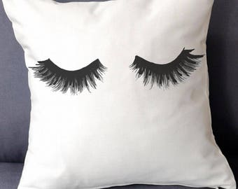 Christmas Gifts For Her Eyelashes Pillow Cover - Lashes Coussin - Cushion - Throw Pillow - Pillowcase, Throwpillow